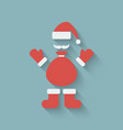 Santa Claus design element vector image