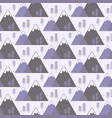 seamless pattern with mountains and trees vector image
