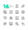seo - set line design style icons vector image vector image