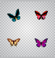 set of beauty realistic symbols with checkerspot vector image