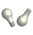set of light bulbs in 3d view vector image vector image
