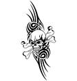 skull bones tribal vector image vector image