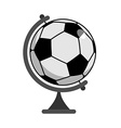 Soccer ball Globe World game Sports accessory as vector image