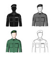 soldierprofessions single icon in cartoon style vector image