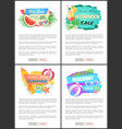 summer big sale banners online web pages vector image vector image