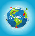 travel adventure time concept vector image vector image