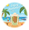 Vacation and Summer Card Concept vector image