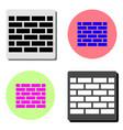 wall flat icon vector image vector image