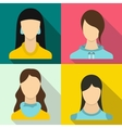Woman banners set flat style vector image vector image