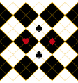 Card Suits Royal White Black Diamond Background vector image