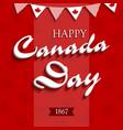happy canada day4 vector image