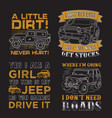 adventure car quote and saying set good for print vector image vector image