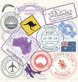Australia travel stamps set sydney