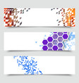business design templates set banners vector image