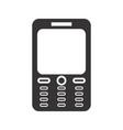 cellphone glyph black icon vector image vector image
