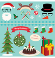 Christmas Set of celebratory symbols vector image vector image