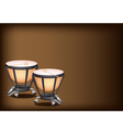 Classical Timpanis on Dark Brown Background vector image vector image