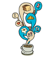 coffeecup series breakfast vector image vector image