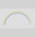 colorful rainbow realistic color effect vector image