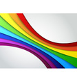 Colorful rainbow wave - perspective vector image vector image