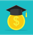 conception of education fee vector image