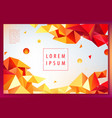 creative geometric wallpaper facet banner vector image vector image