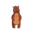 cute bear with surprised muzzle expression vector image vector image
