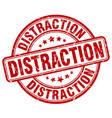 Distraction red grunge stamp