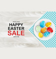 easter poster template with 3d realistic golden vector image vector image