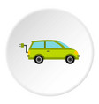 eco car icon circle vector image vector image