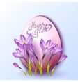 Egg in crocus flowers vector image vector image