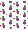 Eggplants seamless pattern vector image vector image