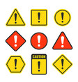 exclamation mark beware icons attention vector image