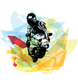 Extreme motocross racer by motorcycle vector image vector image