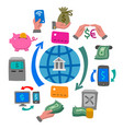 finance and banking concept icon vector image vector image