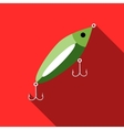Fish bait icon flat style