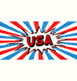 flag banner of usa in the style of pop art comic vector image vector image