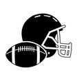 football helmet ball sport equipment image vector image vector image
