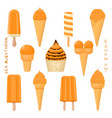 for natural tasty ice cream vector image