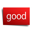 good red square isolated paper sign on white vector image vector image