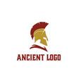 greek sparta spartan helmet armor warrior logo vector image vector image