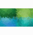 green and blue triangle background abstract vector image