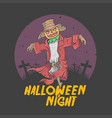 halloween skull pumpkin nightmare vector image vector image