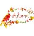 hand drawn autumn watercolor leaves frame vector image vector image
