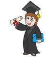 happy graduate student vector image