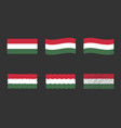 hungary flag set official colors and proportion vector image
