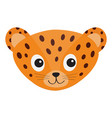 jaguar leopard head wild cat smiling face orange vector image vector image