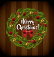 Leaves bowtie and sphere icon merry christmas vector image