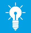 light bulb idea icon white vector image