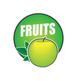 logo fruit natural product and healthy food vector image vector image